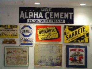cement company signs